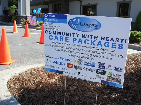Community With Care, Care Packages Sign
